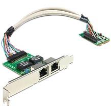 DeLock MiniPCIe I/O PCIe full size 2 x Gigabit Lan