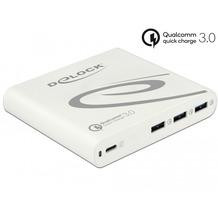 DeLock Netzteil extern USB Type-C™ PD + 3x USB A Quickcharge3.0 85W weiß