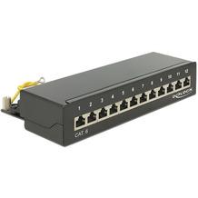 DeLock Netzwerk Patchpanel Desktop 12 Port Cat.6 schwarz