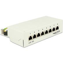 DeLock Netzwerk Patchpanel Desktop 8 Port Cat.6a grau
