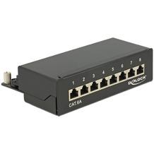 DeLock Patchpanel Desktop 8 Port Cat.6A schwarz