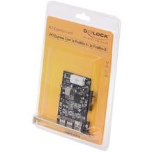DeLock PCI Express Card FireWire 400 A und 800 B
