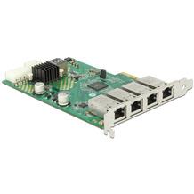 DeLock PCI Express Netzwerkkarte > 4 x 1 Gigabit LAN PoE+ RJ45