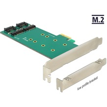 DeLock PCIe x1 > 2 x M.2 Key B Low Profile Form Faktor