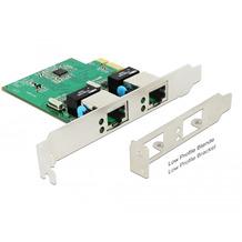 DeLock PCIe x1 Gigabit LAN 2x RJ45 +Low Profile RTL8111H