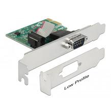DeLock PCIe x1 Seriell 1x + Low profile