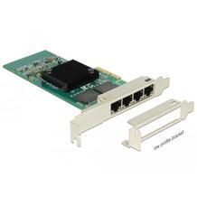 DeLock PCIe x4 Gigabit LAN 4x RJ45 +Low Profile i350