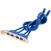 DeLock Slotblech - USB 3.0 4xPort extern/2x Pinheader intern
