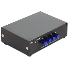 DeLock Switch 4-port Audio/Video manuell bidirektional