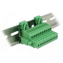 DeLock Terminalblock Set für Hutschienen 10 Pin mit Schraubverriegelung