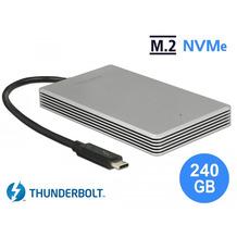 DeLock Thunderbolt™ 3 Externe Portable 240 GB SSD M.2 PCIe NVMe