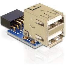 DeLock USB Pin Header Buchse > 2 x USB 2.0 Buchse - oben