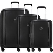 Delsey Brisban 4-Rollen Kofferset 3tlg. schwarz