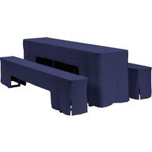 Dena Festzeltgarnitur Hussen Arcade 220 x 50 cm, blau