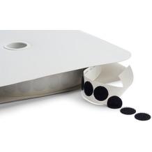 Dena Klettband Punkte 2500 x 1,9 cm, weiß