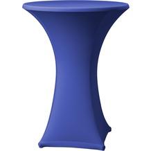 Dena Stehtischhusse Samba D1 blau hell mit Tischplattenbezug Ø 70 cm