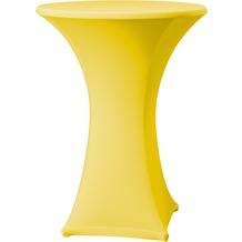 Dena Stehtischhusse Samba D1 Ø 70 cm, gelb mit Tischplattenbezug