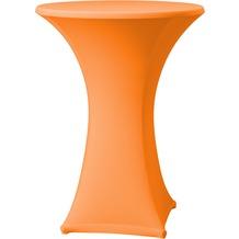Dena Stehtischhusse Samba D1 Ø 70 cm, orange/terrakotta mit Tischplattenbezug