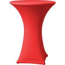 Dena Stehtischhusse Samba D1 rot hell mit Tischplattenbezug Ø 70 cm