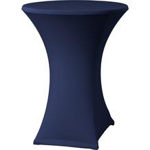 Dena Stehtischhusse Samba D2 blau dunkel mit Tischplattenbezug Ø 70 cm