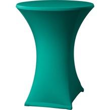 Dena Stehtischhusse Samba D2 grün dunkel mit Tischplattenbezug Ø 70 cm