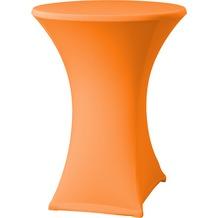 Dena Stehtischhusse Samba D2 Ø 70 cm, orange/terrakotta mit Tischplattenbezug
