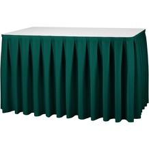 Dena Tischskirting boxpleat 410 x 73 cm, grün inklusive Skirtingbügel