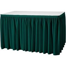 Dena Tischskirting Plissé 410 x 73 cm, grün inklusive Skirtingbügel