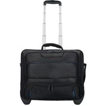 Dermata 2-Rollen Businesstrolley 42  cm Laptopfach schwarz