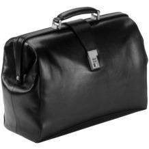 Dermata Arzttasche Leder 43 cm Laptopfach schwarz