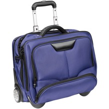 Dermata Business-Trolley 43 cm Laptopfach blau