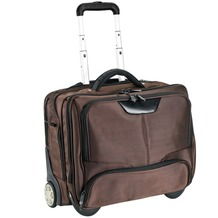 Dermata Business-Trolley 43 cm Laptopfach braun