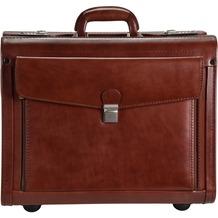Dermata Pilotenkoffer Leder 45,5 cm Laptopfach cognac
