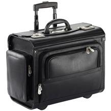 Dermata Pilotenkoffer Trolley 46 cm Laptopfach schwarz