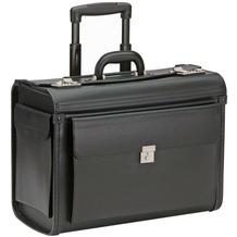Dermata Pilotenkoffer Trolley 48 cm Laptopfach schwarz