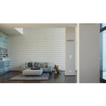 Designdschungel grafische Mustertapete creme grau 10,05 m x 0,53 m