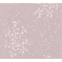 Designdschungel Vliestapete Tapete floral braun metallic rosa 10,05 m x 0,53 m
