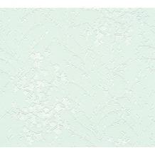 Designdschungel Vliestapete Tapete floral grün metallic weiß 10,05 m x 0,53 m