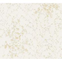 Designdschungel Vliestapete Tapete floral metallic beige grau 10,05 m x 0,53 m