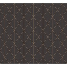 Designdschungel Vliestapete Tapete im skandinavischen Design metallic schwarz 10,05 m x 0,53 m