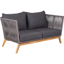 deVries Webster Loungesofa 2-Sitzer 13 mm rope dark grey