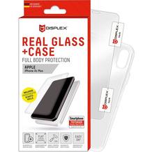 Displex Displex, Real Glass 3D 0,33mm + Hülle,Samsung G960F Galaxy S9, Displayschutzglasfolie