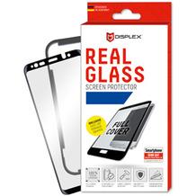 Displex Real Glass 3D Max 0,33mm + Rahmen, Samsung Galaxy A40, Panzerglas Schutzfolie, schwarz
