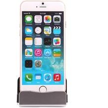 Dockingstation - Apple iPhone 5/5S/SE, 6, 6s, 6s Plus - Silber