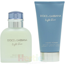 Dolce & Gabbana D&G Light Blue Pour Homme Giftset edt spray 75ml/after shave balm 75ml 150 ml