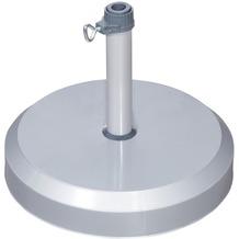 doppler Betonsockel mit Kunststoff-Abdeckung 25kg silber - für Rohr 26-33-37mm