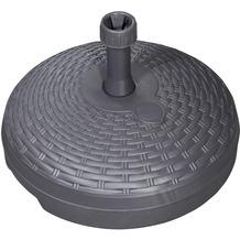 doppler Füllsockel Rattan Base 45cm - 18 Liter - für Rohr 19-33mm