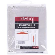 doppler Gartenschirmhülle für Schirme bis 350 cm Polyestergewebe hellgrau, mit RV + Stab