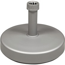 doppler HD-PE-Füllsockel 25kg - silber - m.Sand befüllbar - für Rohr 18-54mm