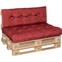 doppler Paletten-Sitzkissen ca. 120x80x15 cm D. 833 Look, verstürzter Steg, 8x Knöpfe